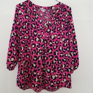 Crown & Ivy Blouse 3/4 Length Sleeves Size: Small